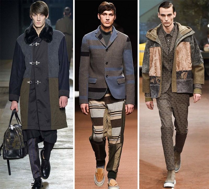 Fall Winter 2015 Mens Fashion Week Trend Patchwork